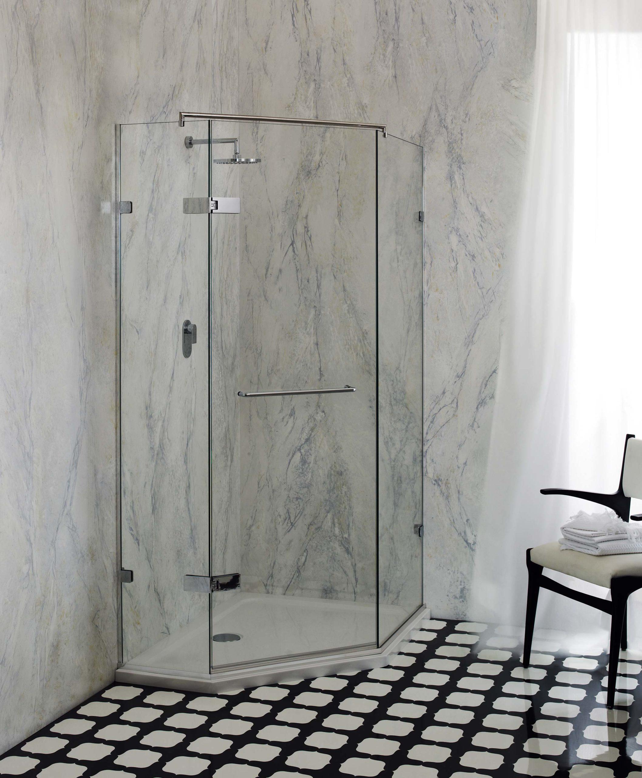 Venice frameless corner shower enclosure