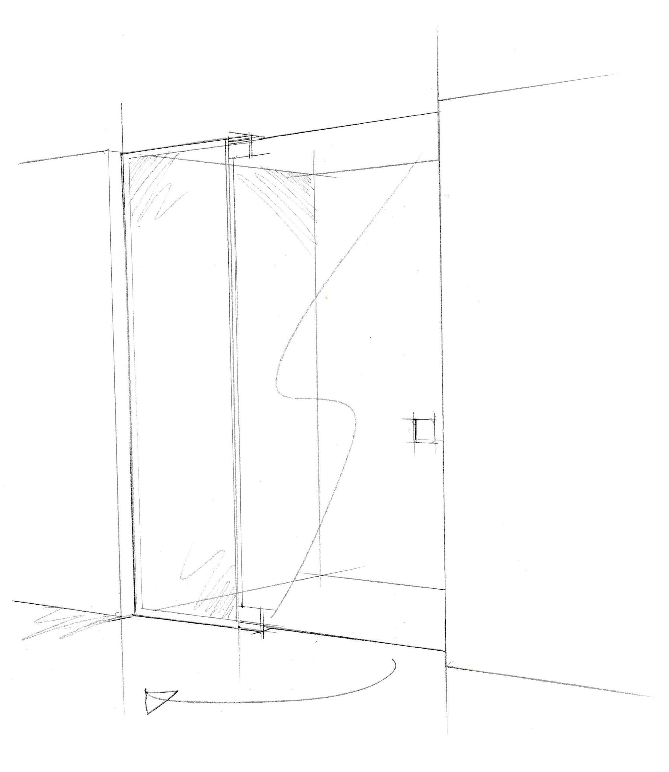 Beyond Bespoke PD - hinged door with inline panel